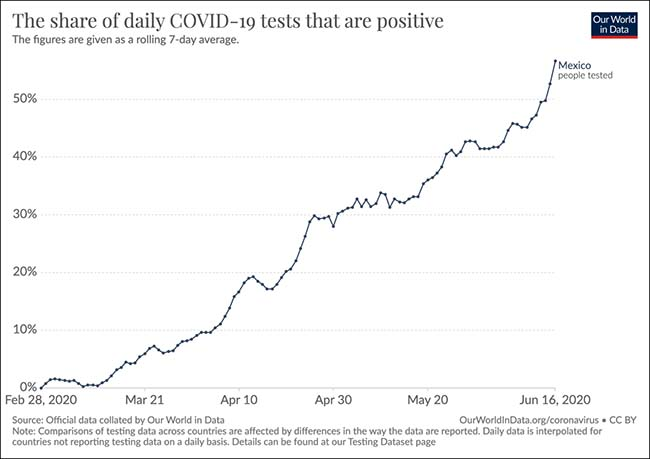Share of daily COVID-19 Tests