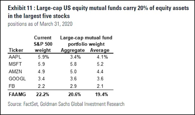 Large-cap US equity mutual funds