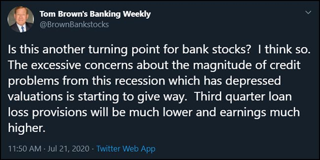 Tweet from @BrownBankstocks