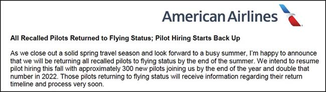American Airlines statement