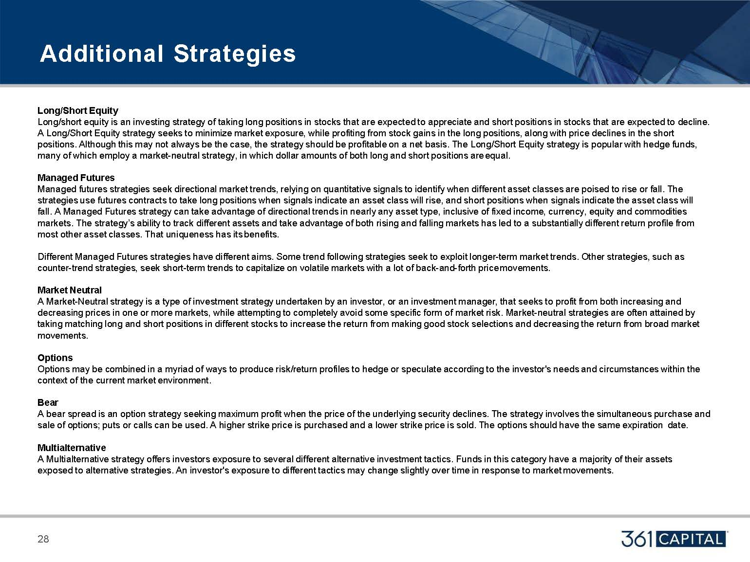 Additional Strategies Description