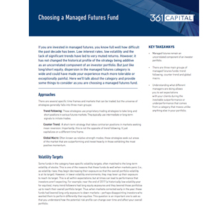 Thumbnail of Choosing a Managed Futures Fund article