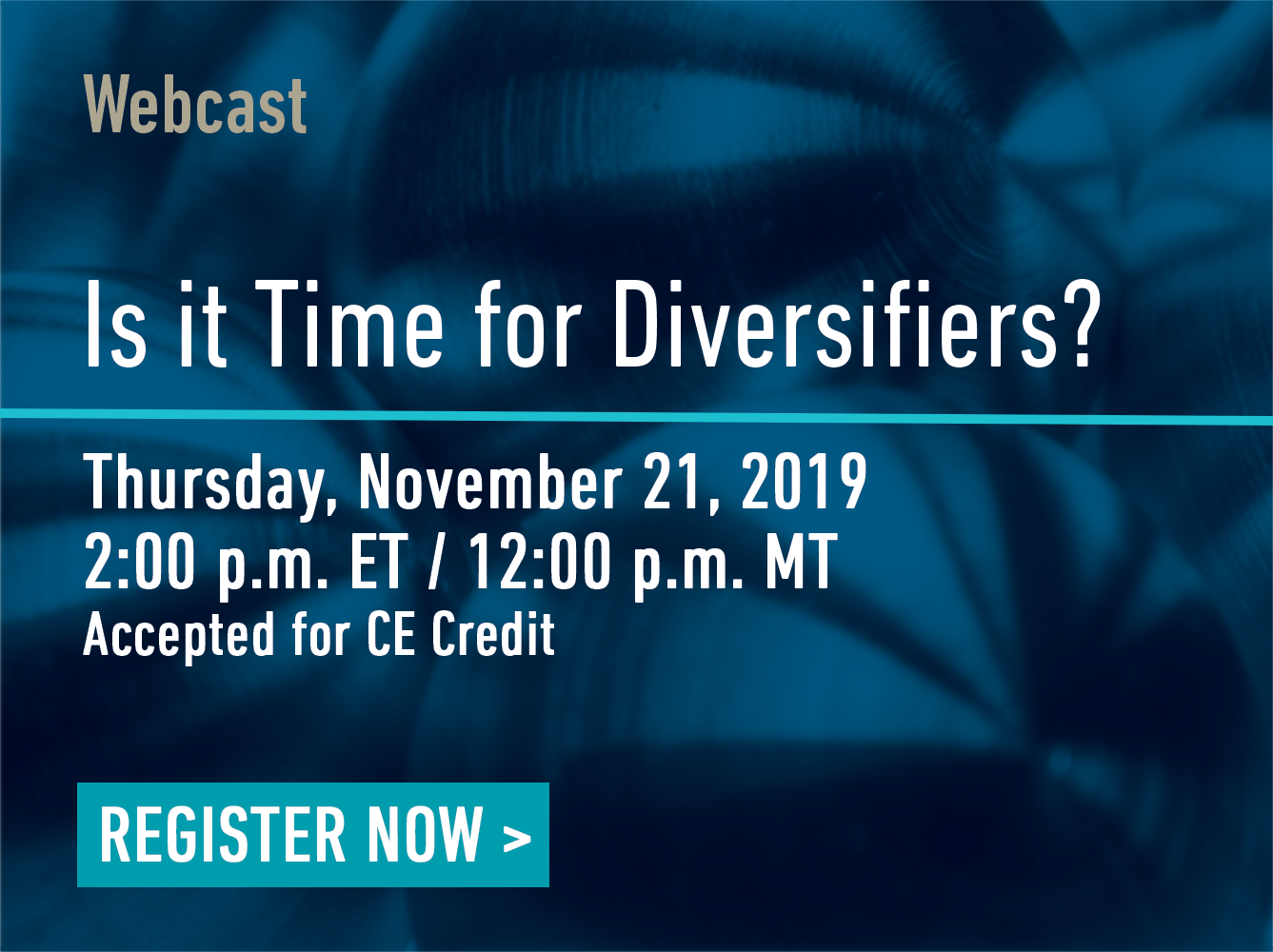 Webcast Promo: Is it Time for Diversifiers?
