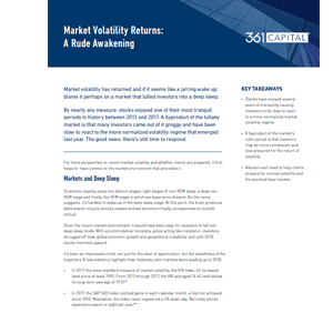 Market Volatility Returns article thumbnail