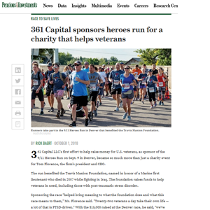 361 Capital Sponsors heroes run for a charity that helps veterans