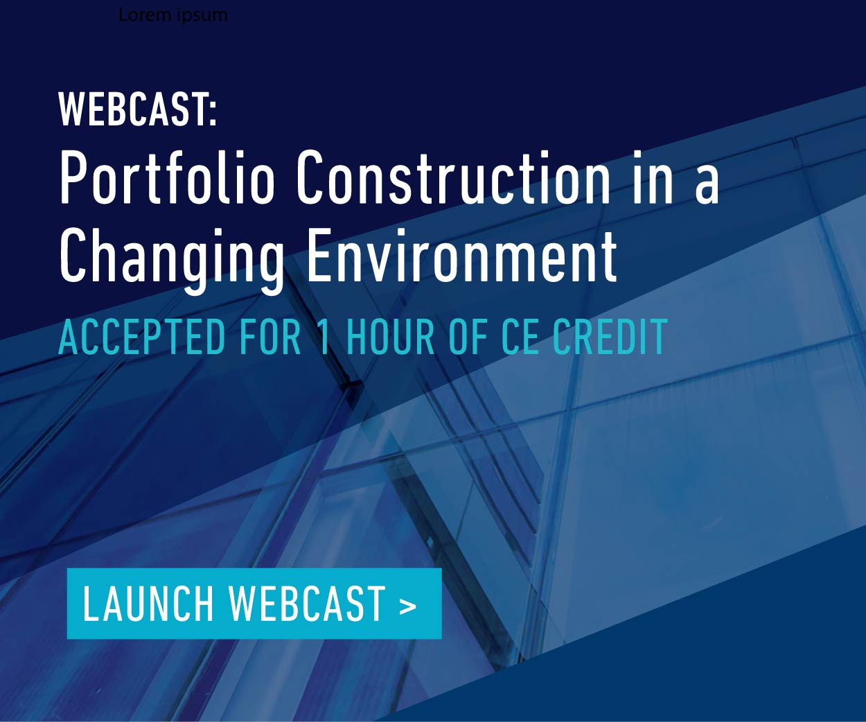 Portfolio Construction Webcast