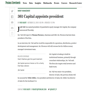361 Capital appoints President