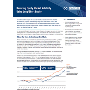 Reducing Equity Market Volatility Using Long Short Equity