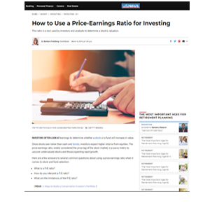 How to Use a Price Earnings Ratio for Investing