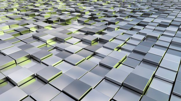 A background image of some silver metallic cubes